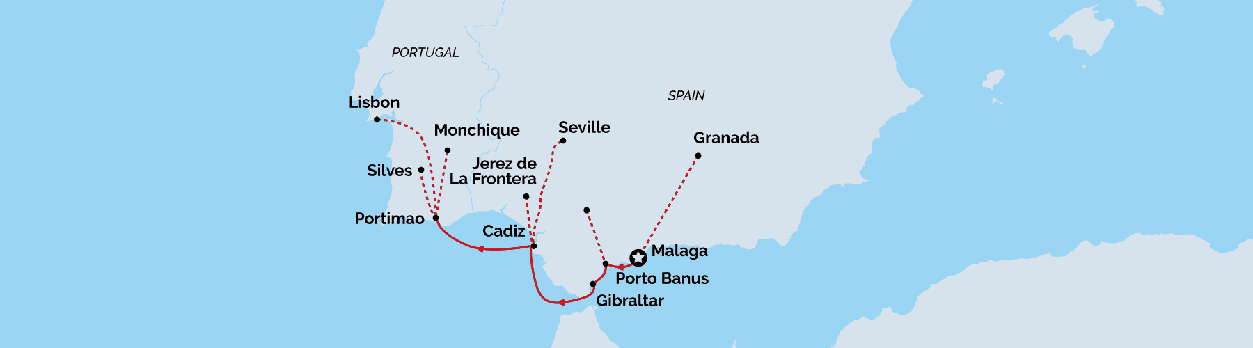 Spain&Portugal hopping cruise