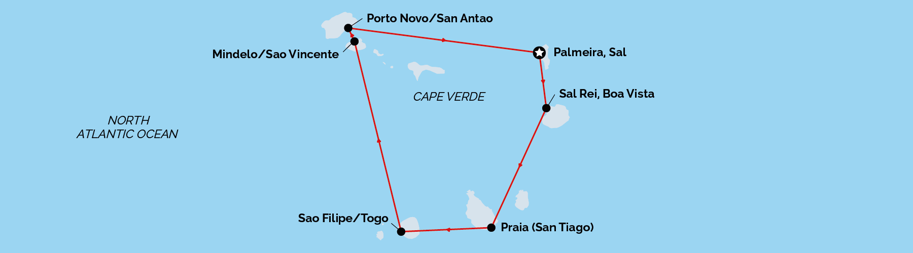 Unforgettable Cruises, Cape Verde cruise