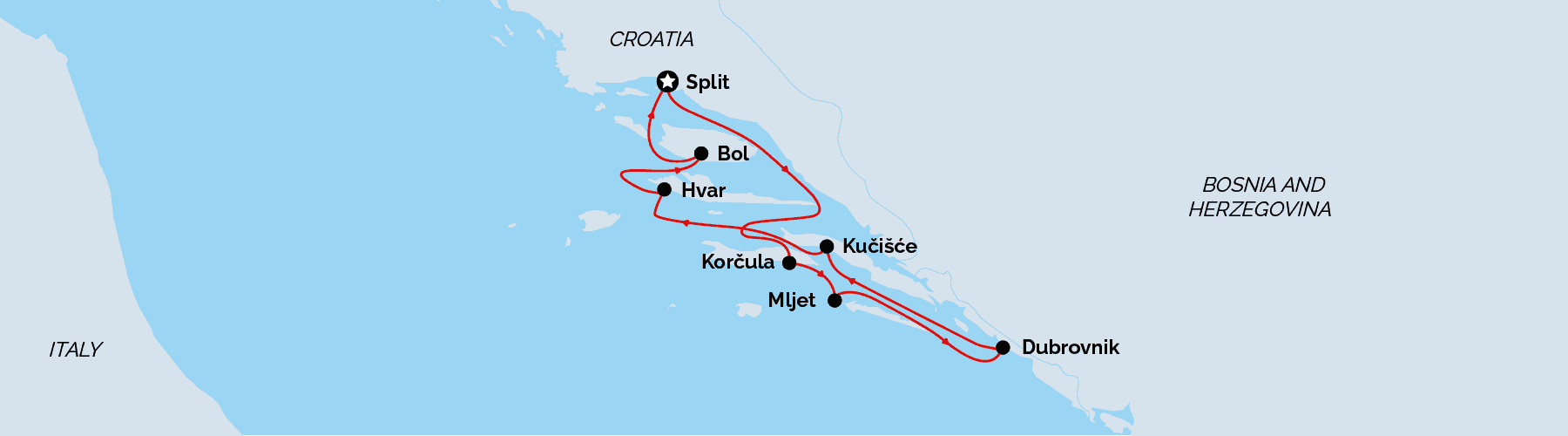Unforgettable Cruises, Croatia