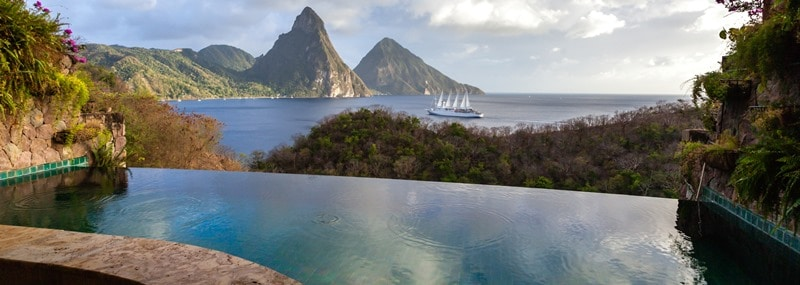 Luxury resort in St Lucia